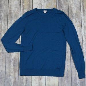 J. Crew Sawyer Sweater Ribbed Merino Wool E0022